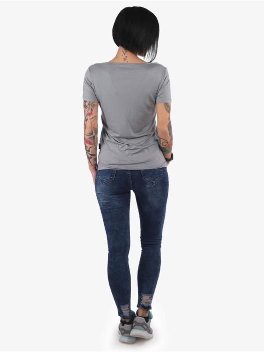 Yakuza T-Shirt Contra V Neck grey