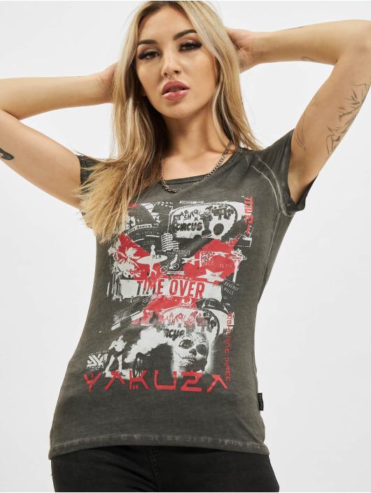 Yakuza T-Shirt Time Over Dye Racer Back grey