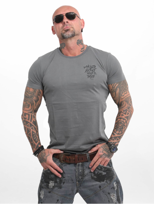 Yakuza t-shirt Basic Line 4W grijs