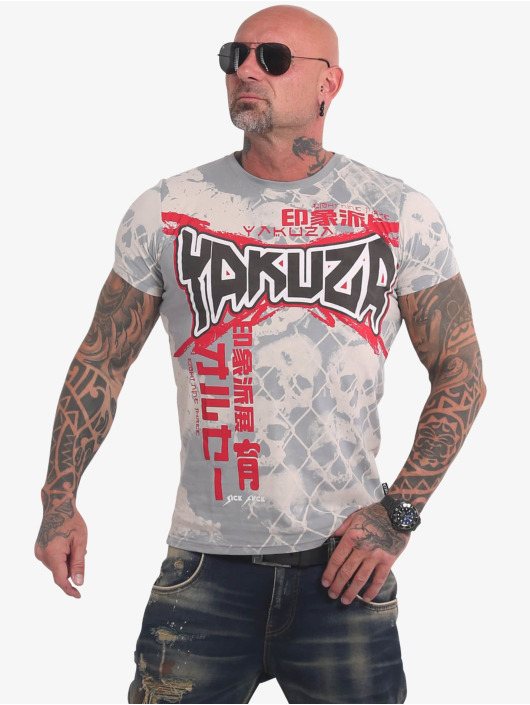 Yakuza t-shirt Killing Fields grijs