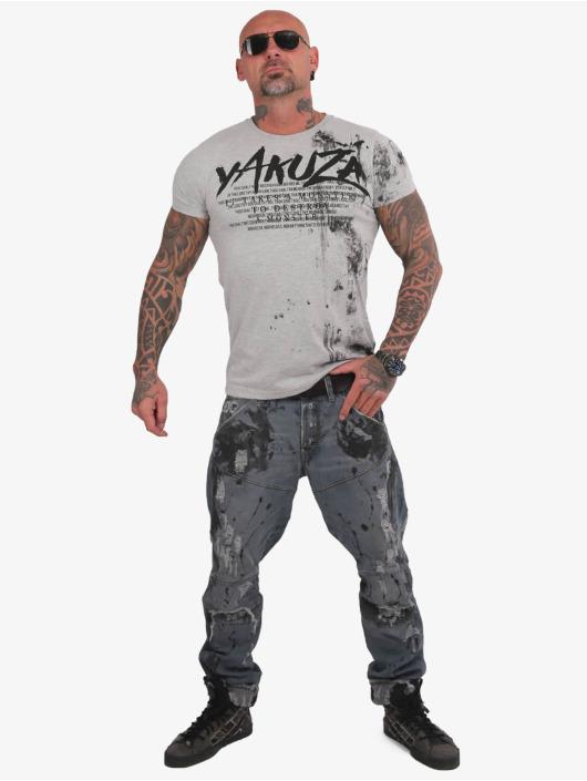 Yakuza T-Shirt Destroy A Monster gris
