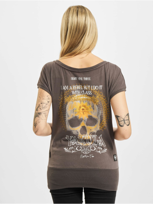 Yakuza T-Shirt Rebel Wide Crew gris