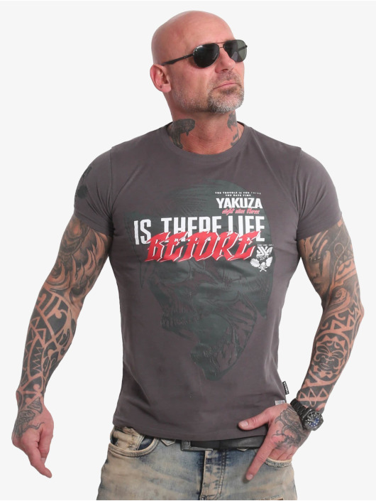 Yakuza T-Shirt Life Before gris
