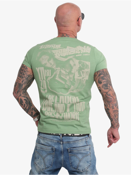 Yakuza t-shirt Live Laugh Love groen