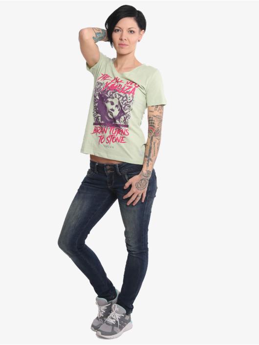 Yakuza T-Shirt Stone V Neck grün