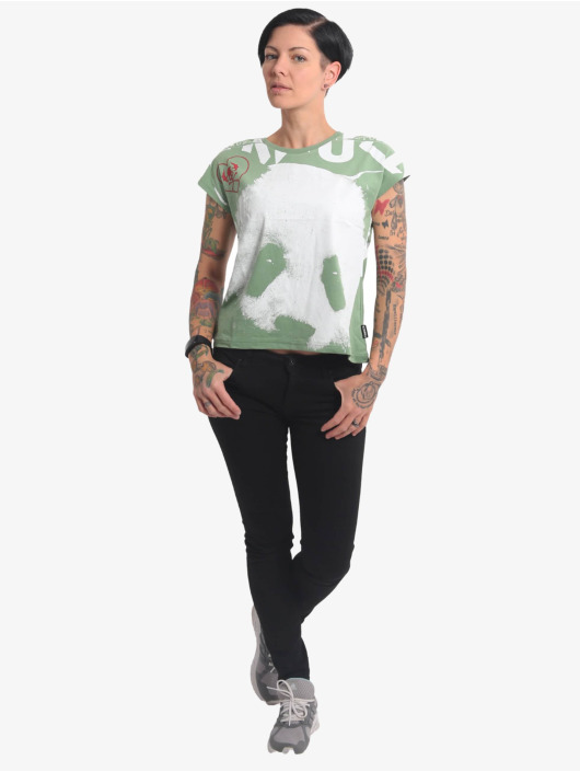 Yakuza T-Shirt Panda Box Fit grün