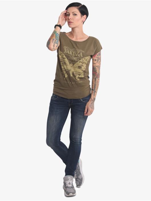 Yakuza T-Shirt Dead Butterfly Wide grün