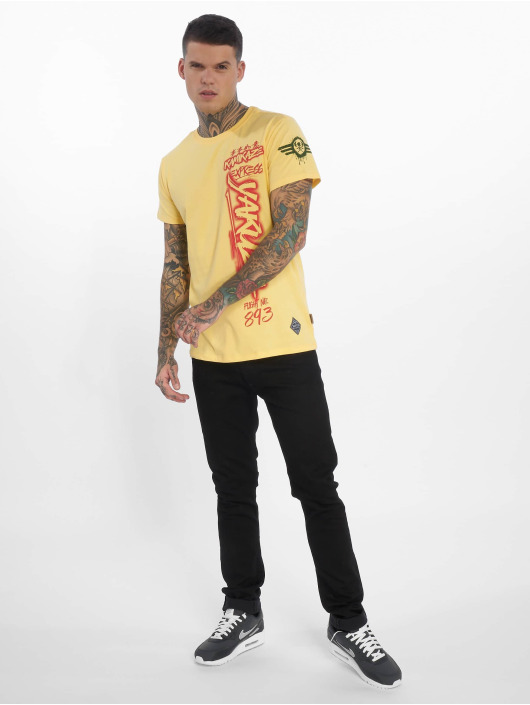 Yakuza T-Shirt Flight No893 jaune