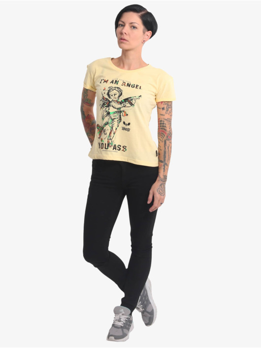 Yakuza T-Shirt Angel Box Fit jaune