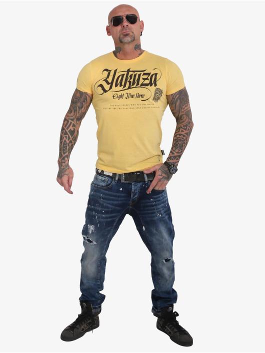 Yakuza T-Shirt Indian Skull jaune