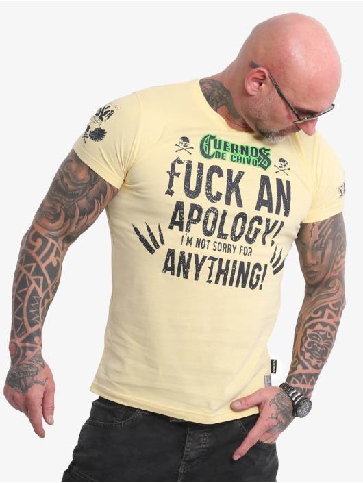 Yakuza T-Shirt Cuernos De Chivo V02 jaune