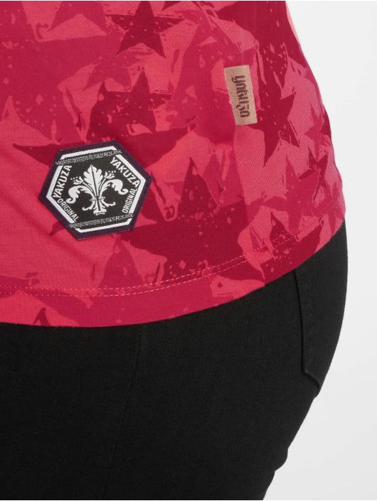 Yakuza T-Shirt Stars V-Neck magenta