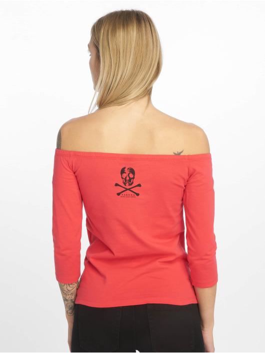 Yakuza T-Shirt manches longues Flying Skull Off Shoulder magenta