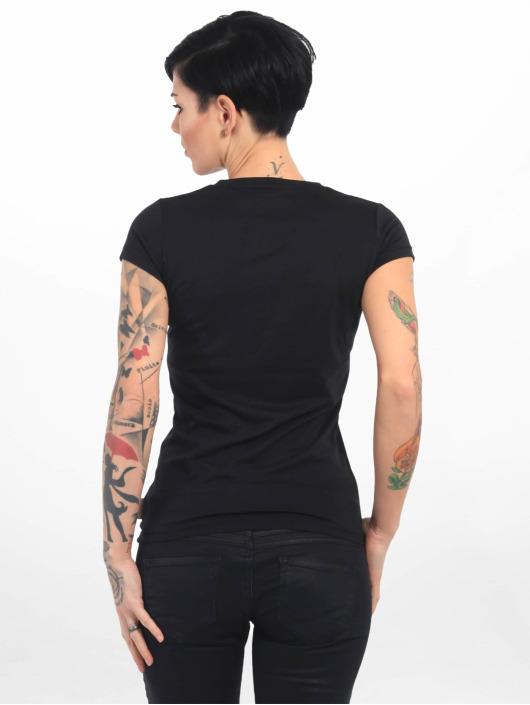 Yakuza T-shirt Basic Line Script V Neck nero