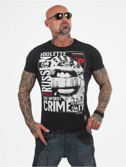 Yakuza T-shirt Russian Roulette nero