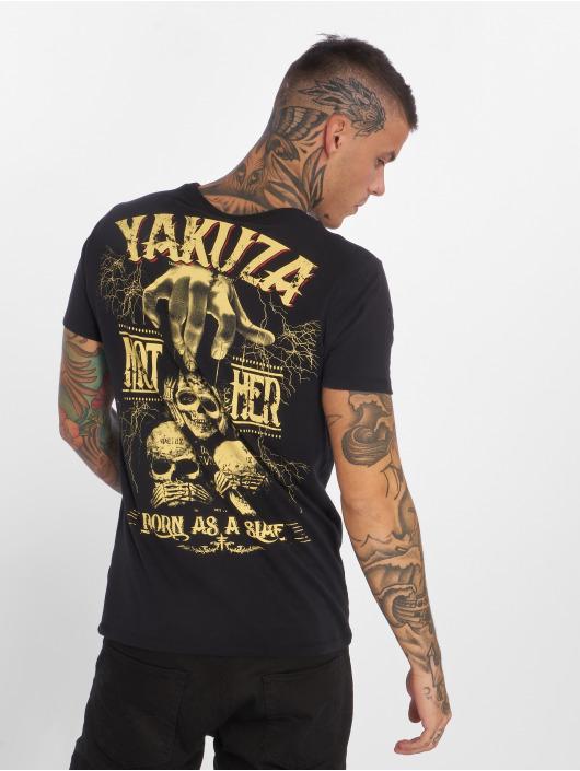 Yakuza T-Shirt Born As A Slave noir