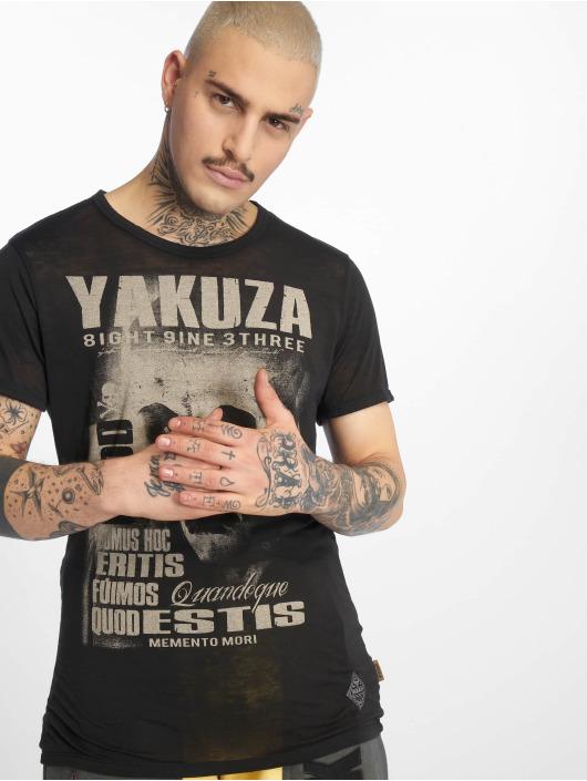 Yakuza T-Shirt Burnout Quod Sumus Hoc Eritis noir