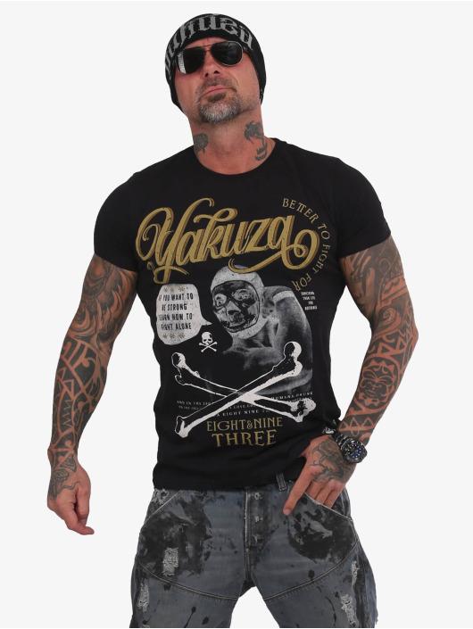 Yakuza T-Shirt Fight Alone noir