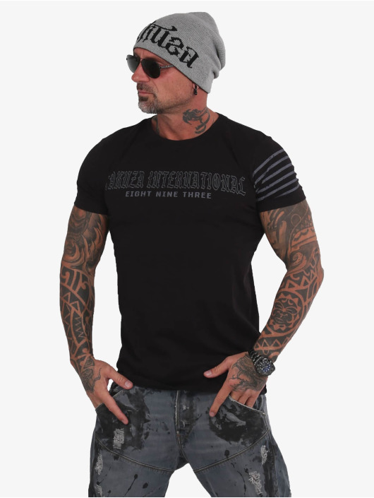 Yakuza T-Shirt International Stripes noir