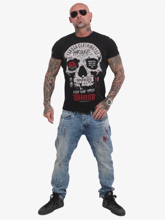 Yakuza T-Shirt Through Skull noir