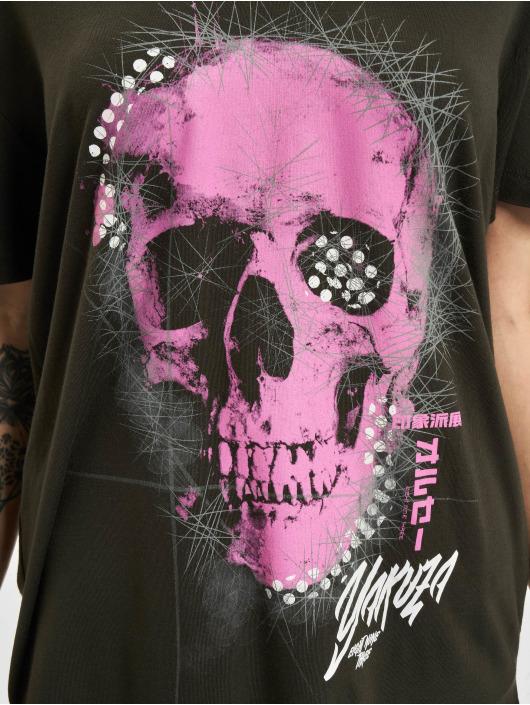 Yakuza T-Shirt Glowing Skull Crew noir