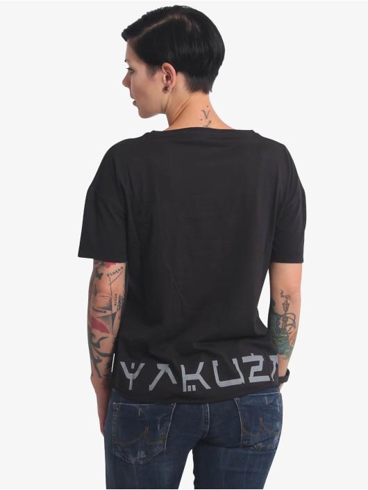 Yakuza T-Shirt Nippon Zombie Loose V-Neck noir