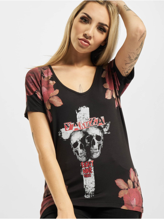 Yakuza T-Shirt Inner Peace V02 Crew noir