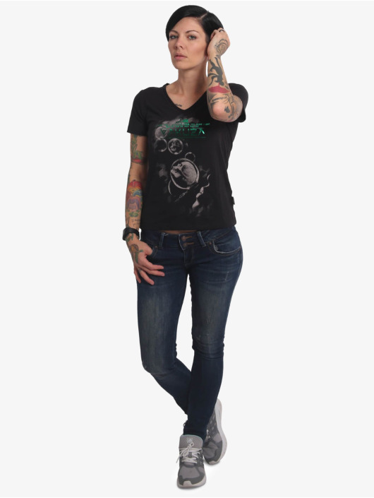Yakuza T-Shirt Bubble Skull V-Neck noir