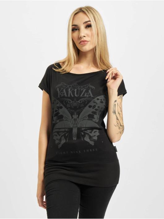 Yakuza T-Shirt Dead Butterfly Wide Crew noir