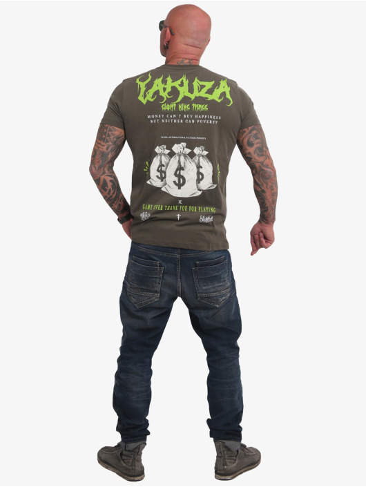 Yakuza t-shirt Buy Happiness olijfgroen