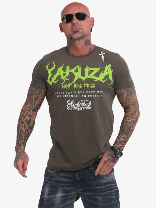 Yakuza T-shirt Buy Happiness oliv