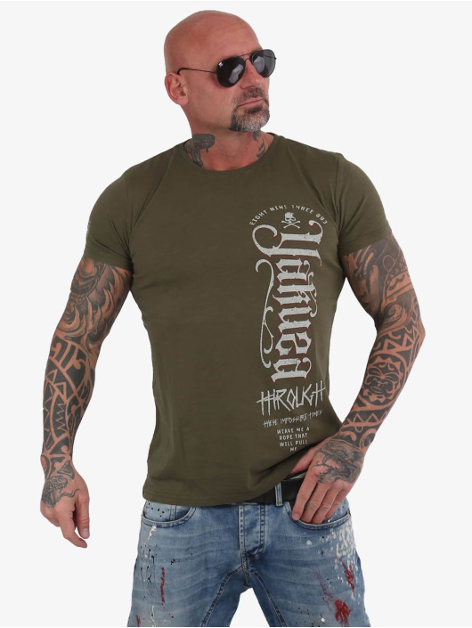 Yakuza T-Shirt Through Bones olive