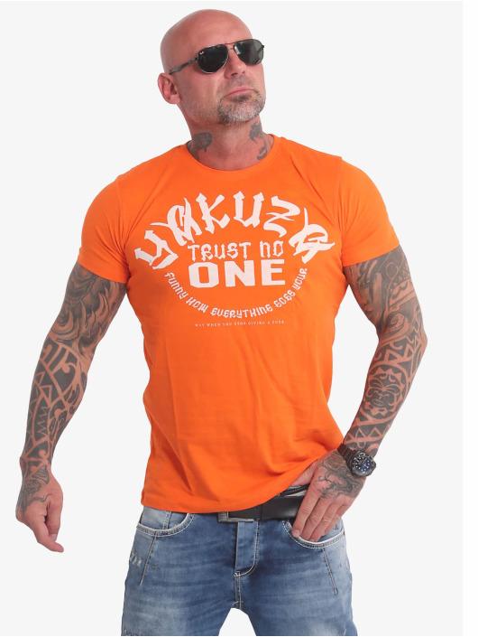 Yakuza T-Shirt Trust No One orange