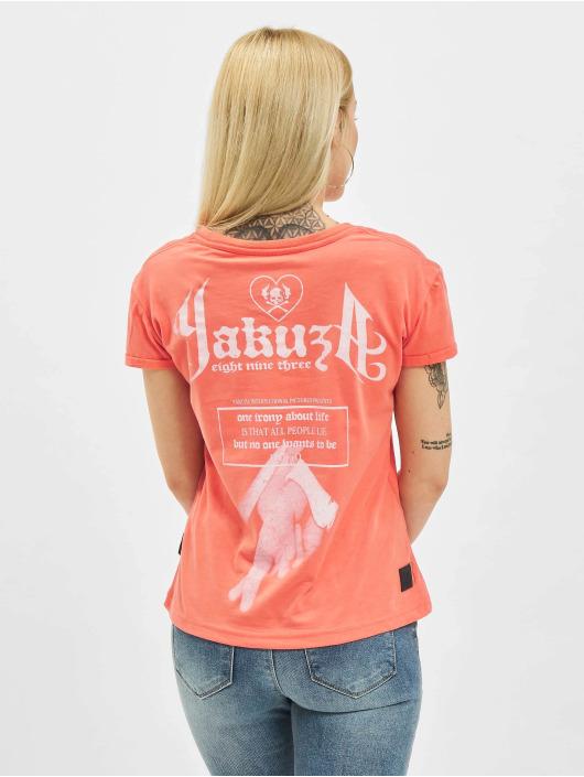 Yakuza T-Shirt Double Cross Box Fit orange