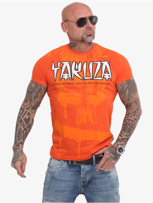 Yakuza T-Shirt Burning Skull orange
