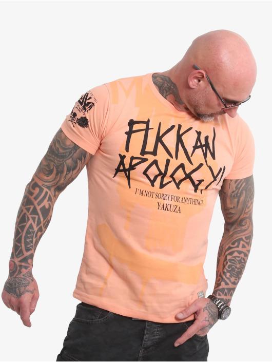Yakuza t-shirt Apology oranje