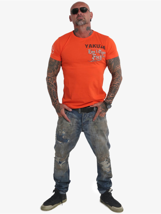 Yakuza t-shirt Give A Fck oranje