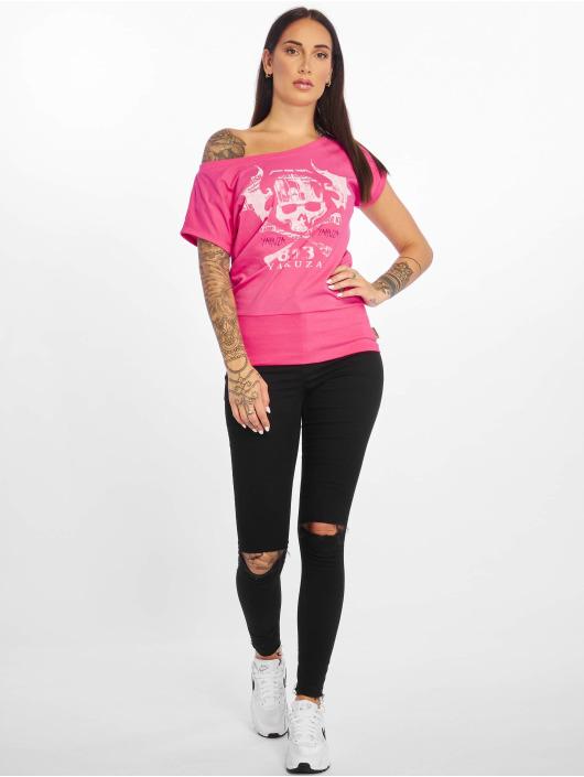 Yakuza T-Shirt Flying Skull pink