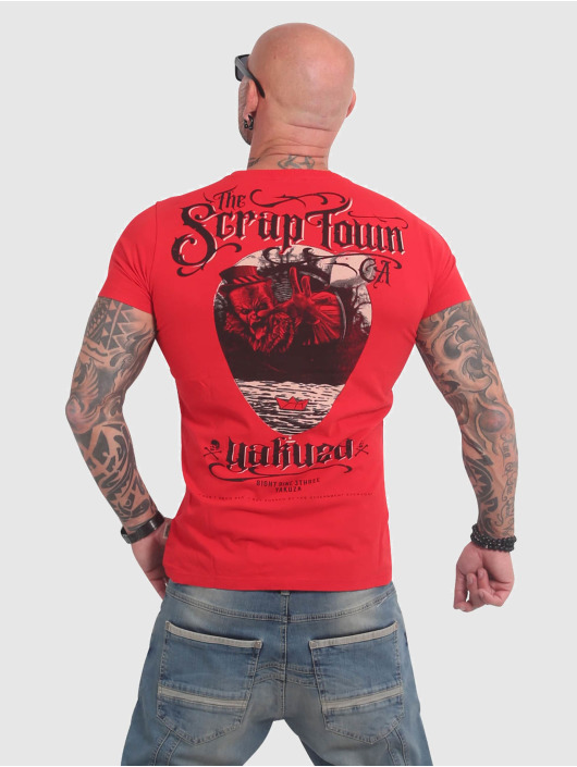 Yakuza T-Shirt Scrap Town red