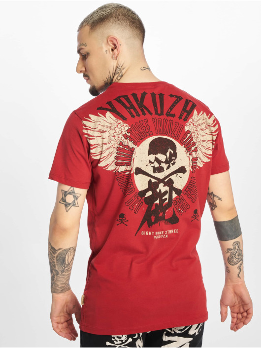 Yakuza T-Shirt Nippon Skull red