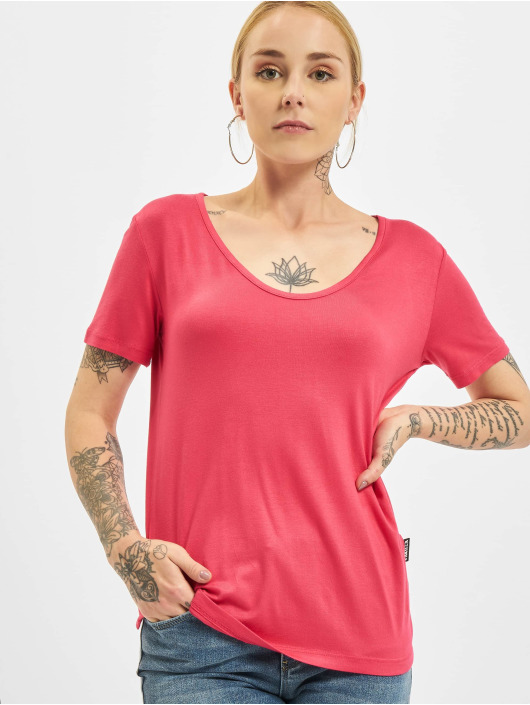 Yakuza T-Shirt 893Love Emb V Neck red