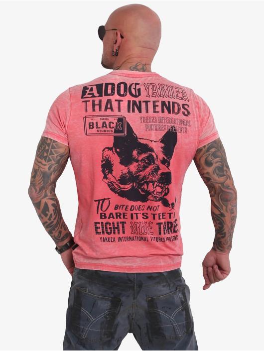 Yakuza T-Shirt Dog Burnout red