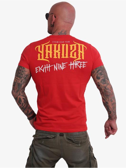 Yakuza T-Shirt Through Skull red