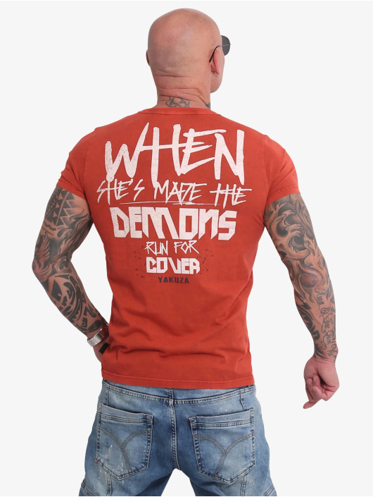 Yakuza t-shirt Run For Cover rood