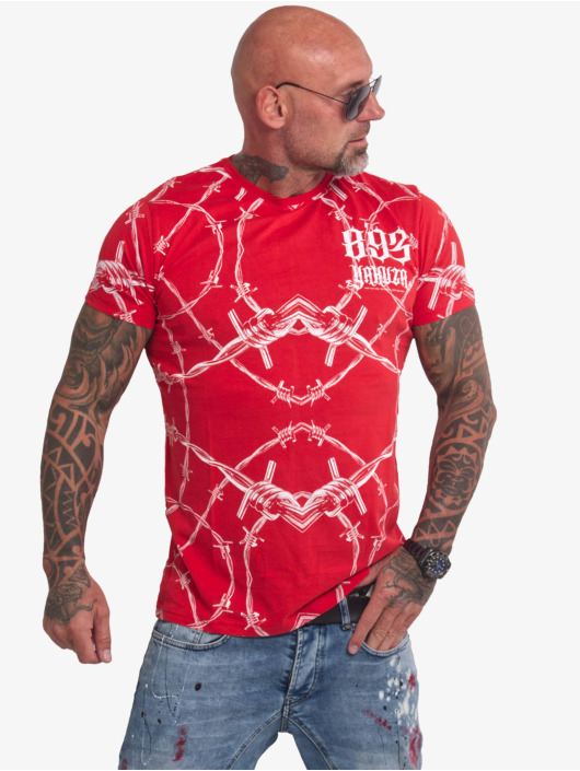 Yakuza t-shirt Barbwire rood