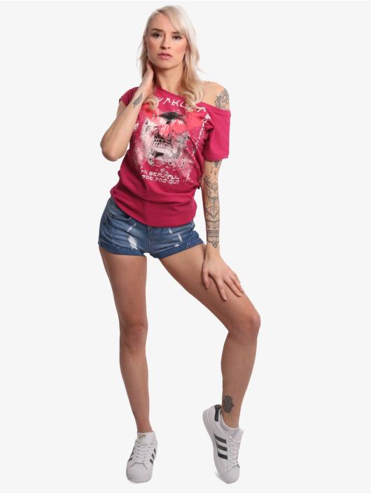 Yakuza t-shirt Wide Crew Neck rood