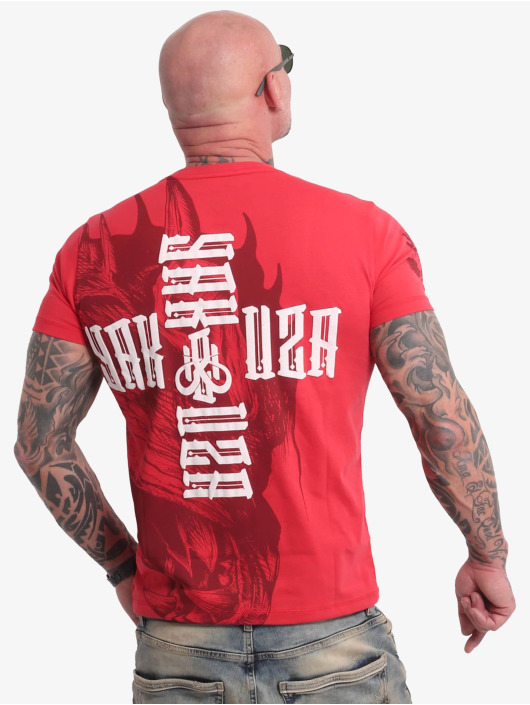 Yakuza t-shirt Dragon rood