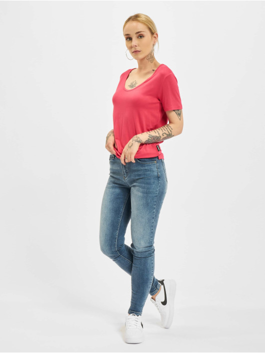 Yakuza T-shirt 893Love Emb V Neck rosa