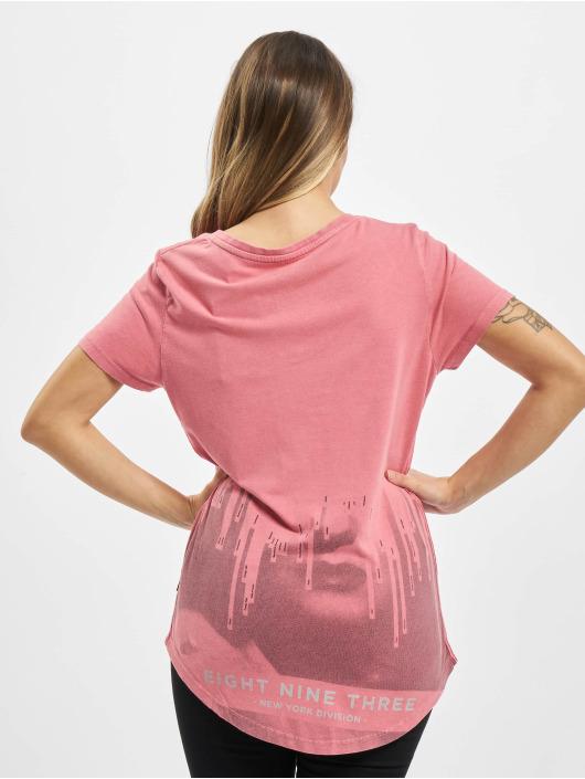 Yakuza T-shirt Virus V Neck rosa