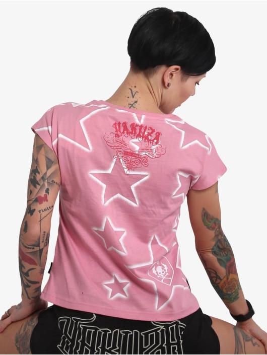 Yakuza T-Shirt 893Starlet V Neck rosa